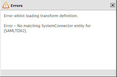 SystemConnectorFailure